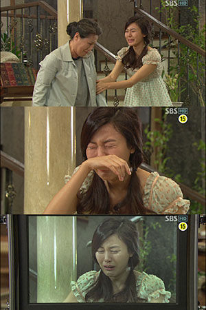 Kim Ha Neul crying her heart out