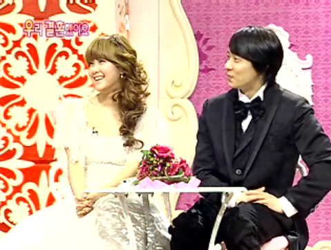Solbi and Andy in We Got Married