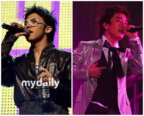 Big Bang's Seung Ri and Ji Yong (G-Dragon)