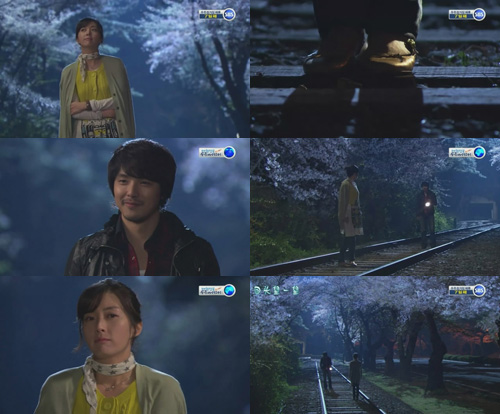 Kyung Min and Young Eun cherry blossom date