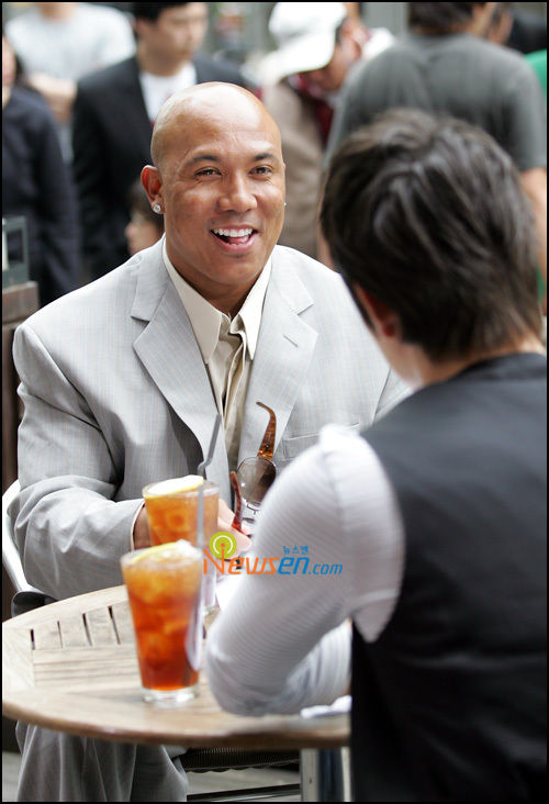 Hines Ward and Aden (Ricky Lee Neely)