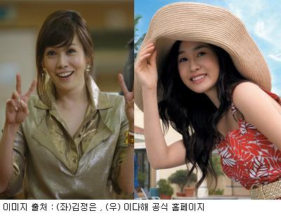 Kim Jung Eun and Lee Da Hae