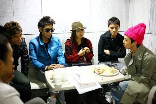 Big Bang and Lee Hyori