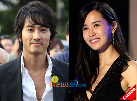 Song Seung Hun and Lee Da Hae