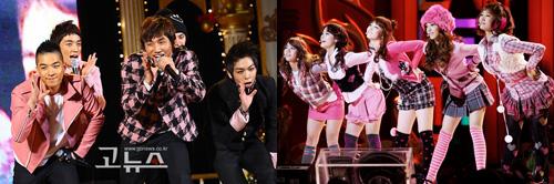 Big Bang and Kara Stage