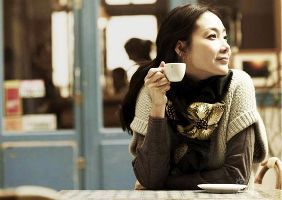 Choi Ji Woo Enjoying A Cuppa