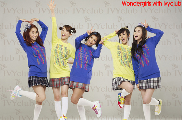 final photoshoot for Wonder Girls endorsing Ivy Club?