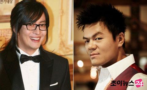 Bae Yong Joon and Park Jin Young