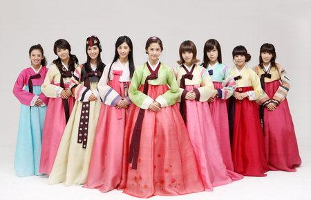 So Nyeo Shi Dae in hanboks