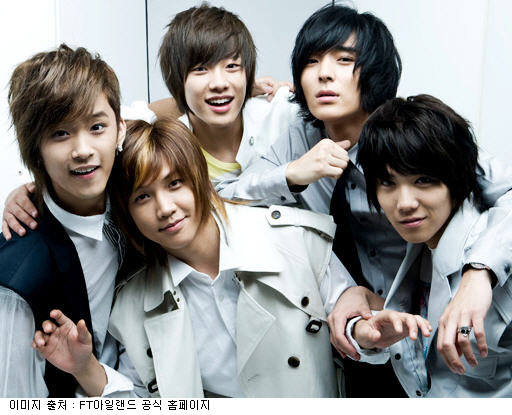 Oh Won Bin (2nd from left) Quits F.T. Island