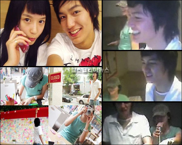 Kang Min Kyung and Lee Min Ho in high-school days