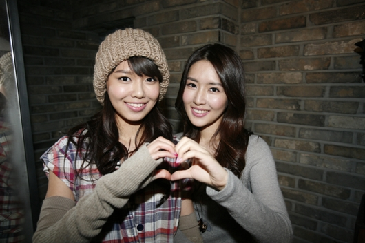 Soo Young with her sister Soo Jin