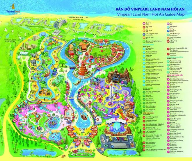 Map of VinPearl Land Nam Hoi An